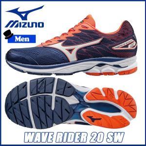 男性用 ランニングシューズ ミズノ MIZUNO WAVE RIDER 20 SW スーパーワイド メンズ ランシュー move