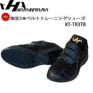 野球 トレーニングシューズ 一般用 ハタケヤマ HATAKEYAMA 3本ベルト ブラック あすつく move