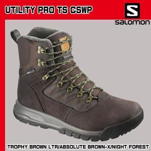 サロモン (SALOMON) UTILITY PRO TS CSWP ユーティリティー プロ クライマシールド ウォータープルーフ カラー:TROPHYBROWNLTR/ABSOLUTEBROWN-X/ (sal15dcn) move