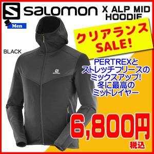 SALOMON(サロモン) Xアルプ ミッドレイヤー  X ALP MID HOODIE Men   カラー:BLACK|move