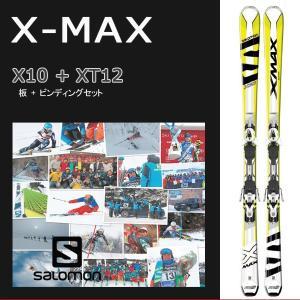 SALOMON サロモン X-MAX X10 + XT12 WHITE/YELLOW/BLACK スキー板 + ビンディングセット|move