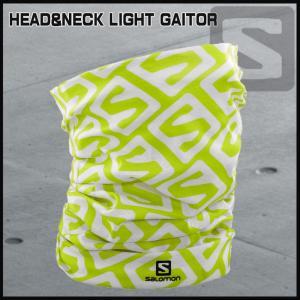 サロモン Salomon HEAD&NECK LIGHT GAITOR ACID LIME/WHITE|move