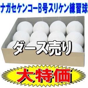 野球 ナガセケンコー 軟式ボール 中学生向けB号 検定落ち練習球(スリケン) ダース売り sps-bb|move