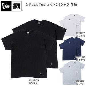 ニューエラ アパレル カジュアル Tシャツ メンズ NEW ERA コットンTシャツ 半袖 2-Pa...