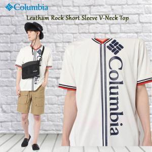 コロンビア Clumbia リーサムロックショートスリーブ  LeathamRockShortSleeveV-neckTop (Columbia_2018SS)pu move