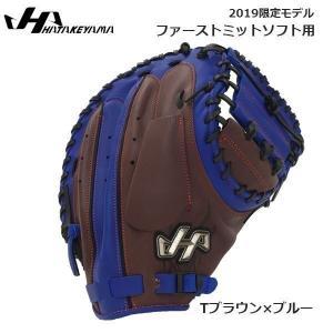 野球 ファーストミットソフト用 グラブ 軟式ソフト  ハタケヤマ HATAKEYAMA 限定 Tブラウン×ブルー move