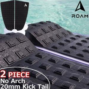 ROAM ローム 2PIECE TAIL PAD BLACK サーフィン デッキパッド|move