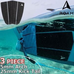 ROAM ローム 3PIECE TAIL PAD BLACK サーフィン デッキパッド|move