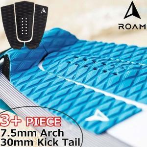 ROAM ローム 3+PIECE TAIL PAD BLACK サーフィン デッキパッド|move
