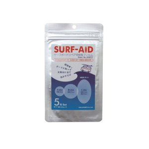 SURF-AID サーフエイド サーフボードリペア用樹脂フィルム S・M・Lサイズ計5枚セット|move
