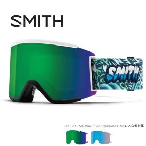 スノーボード ゴーグル 18-19 SMITH スミス SQUAD XL スカッドエックスエル TALL BOY  CHROMAPOP SUN GREEN MIRROR CHROMAPOP STORM ROSE FLASH|move