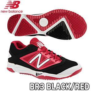 野球 トレーニングシューズ 一般用 ターフモデル ニューバランス newbalance T4040BK3 BLACK/RED ブラック/レッド move