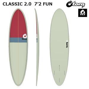 サーフボード torq トルク CLASSIC 2.0  7'2 FUN  SAND + GRAY + RED フィン付き個人宅送料無料 move