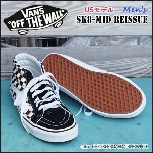 バンズ ヴァンズ VANS US限定モデル SK8-MID REISSUE CHECKERBOARD/TRUE WHITE スケートミッド|move