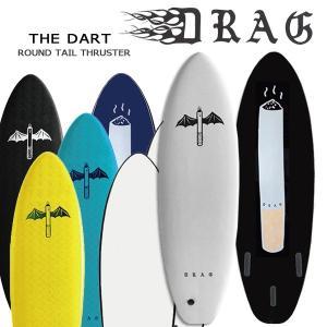 サーフボード ソフトボード DRAG SOFTBOARD ドラッグ THE DART 6'6 ラウンドテール スラスター フィン付き個人宅送料無料 move