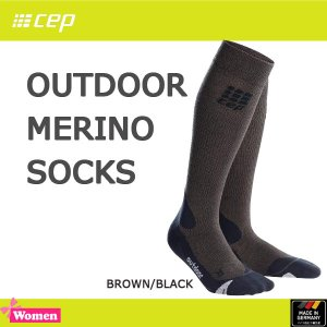 cep(シーイーピー) レディース アウトドア メリノソックス (cep-old)OUTDOOR MERINO SOCKS (BROWN/BLACK)(sps50)|move