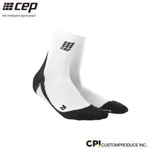 シーイーピー(cep)メンズ ショートソックス WHITE/BLACK -コンプレッションソックス-|move