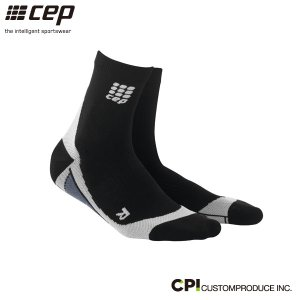 シーイーピー(cep)メンズ ショートソックス BLACK/GREY -コンプレッションソックス-|move