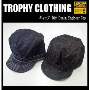 TROPHY CLOTHING トロフィークロージング キャップ Dirt Denim Engineer Cap|moveclothing