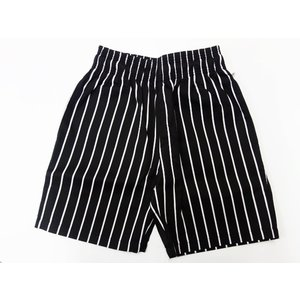 COOKMAN クックマン ショーツ Chef Short Pants 【Stripe BLACK】|moveclothing