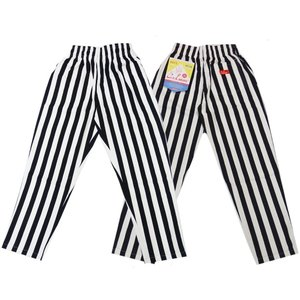 COOKMAN クックマン パンツ シェフパンツ Chef Pants 【Wide stripe Black】|moveclothing