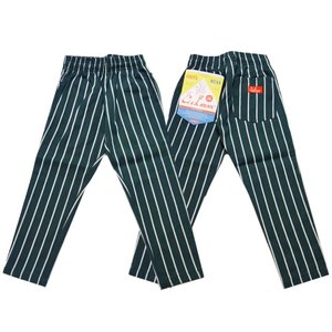COOKMAN クックマン パンツ シェフパンツ Chef Pants Kids【Green stripe】|moveclothing