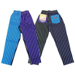 COOKMAN クックマン パンツ シェフパンツ Chef Pants 【Crazy Stripes Cold】|moveclothing