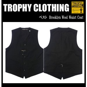 TROPHY CLOTHING トロフィークロージング ベスト Brooklyn Wool Waist Coat|moveclothing