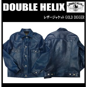 DOUBLE HELIX ダブルへリックス レザージャケット GOLD DIGGER|moveclothing