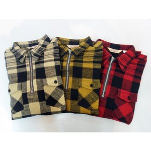 TROPHY CLOTHING トロフィークロージング プルオーバーネルシャツ BUFFALO HALF ZIP SHIRT|moveclothing