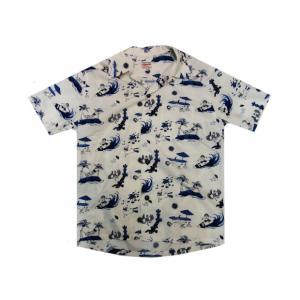 桃太郎ジーンズ アロハシャツ 06-091|moveclothing