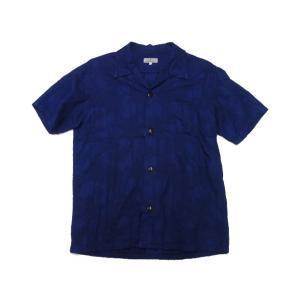 ジャパンブルージーンズ 開襟シャツ インディゴ膨れ織り(ヤシの木)|moveclothing
