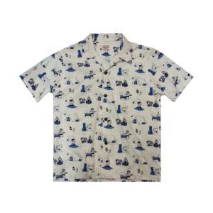 桃太郎ジーンズ アロハシャツ 06-100|moveclothing
