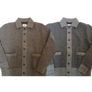 TROPHYCLOTHING トロフィークロージング スウェット SALT&PEPPER BUTTON SWEAT JACKET|moveclothing