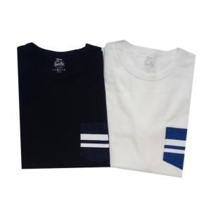 桃太郎ジーンズ 【07-035】GTBデニムポケットTシャツ|moveclothing