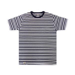 桃太郎ジーンズ 【07-024】GTBジンバブエコットン・オリジナルボーダーTシャツ(NAVY)|moveclothing