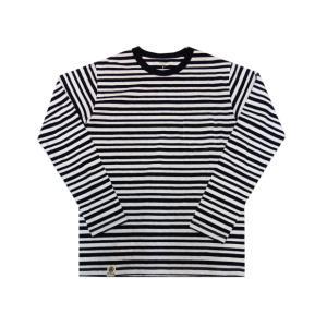 桃太郎ジーンズ 【07-097】GTBジンバブエコットン・ボーダー長袖Tシャツ|moveclothing