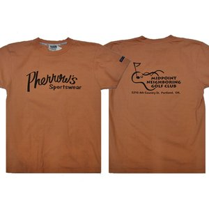 PHERROW'S フェローズ Tシャツ 21S-PT1-MIDPOINT NEIGHBORING GOLF CLUB|moveclothing
