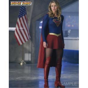 ブロマイド写真(外国製)『スーパーガール』/国旗とスーパーガールの全身/メリッサ・ブノワ/DC