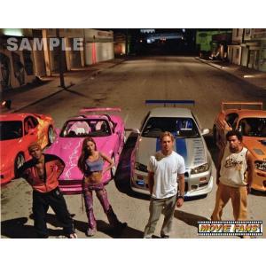 ブロマイド写真【外国製】『ワイルド・スピードX2』/レース前に愛車の前に立つ4人/ポール・ウォーカー、アマウリー・ノラスコ、デヴォン青木