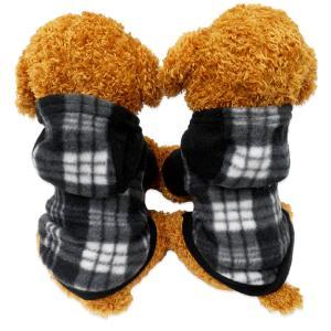 犬服 ペット服 ペット用品 秋冬 mowmow パーカー チェック フード かわいい おしゃれ 旅行 お出かけ お散歩 dtopa0026 mowmow0731
