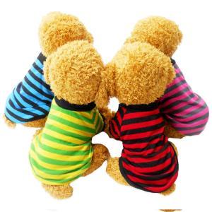 犬服 mowmow 春夏 ペット服 Tシャツ シャツ つなぎ ペット服 かわいい おしゃれ イギリス国旗 ボーダー 薄手 dts0013