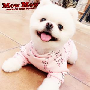 犬服 秋冬 mowmow トレーナー うさぎ ねこ かわいい 動物 おしゃれ  ◇サイズについて ・...
