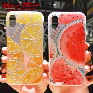 iPhone SE 第2世代 11 Pro ケース Max iPhoneXR iPhoneXS XSMax X iPhone8 8Plus iPhone7 7Plus フルーツ スイカ オレンジ 夏 sc0064 mowmow0731