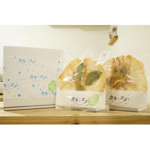 牡蠣 せんべい 「カキとコメとバジル」 アソートセット6枚入り|mpantry|03