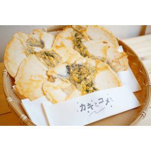 牡蠣 せんべい 「カキとコメと」 6枚入り|mpantry