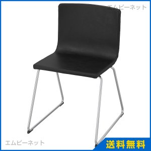 IKEA イケア BERNHARD チェア クロムメッキ カヴァト ダークブラウン (001.638.03)|mpee