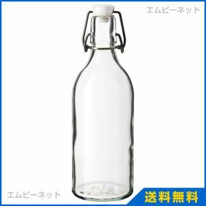 IKEA イケア KORKEN ボトル ふた付き クリアガラス (003.224.73)|mpee
