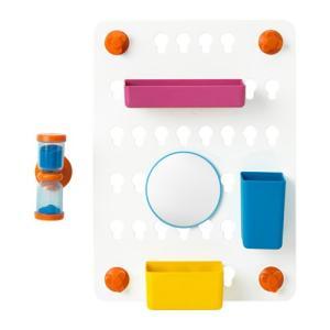 IKEA イケア LADDAN 収納ボード6点セット 吸盤付き アソートカラー (003.242.93)|mpee