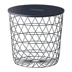 IKEA イケア KVISTBRO クヴィストブロー 収納テーブル, ダークブルー (004.333.72)|mpee